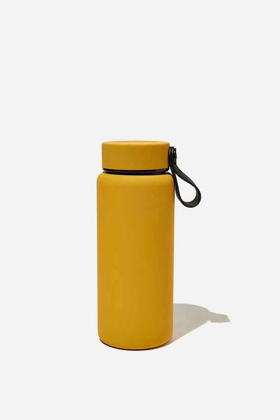 On The Move Metal Drink Bottle 350Ml, MUSTARD