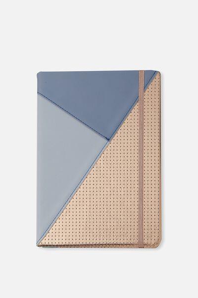 Medium Buffalo Journal, ROSE GOLD BLUE SPLICE