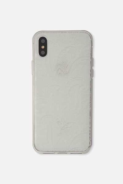Transparent Phone Cover X, WHITE LACE
