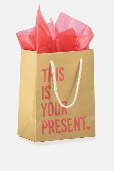 Small Gift Bag with Tissue Paper, THIS IS YOUR PRESENT