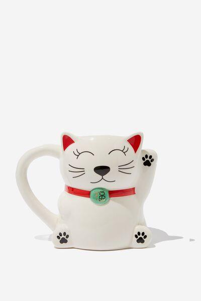 Novelty Shaped Mug, LUCKY CAT