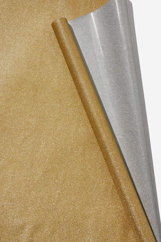 Roll Wrapping Paper, GOLD GLITTER
