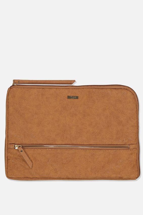 Premium Laptop Case 13 inch, MID TAN FLORAL