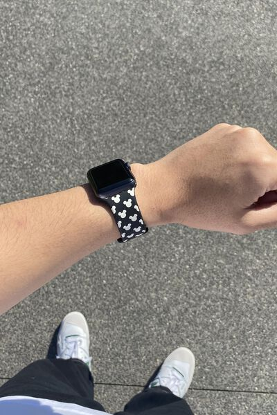 Strapped Watch Strap, LCN DIS MICKEY HEAD YDG