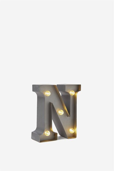 Mini Marquee Letters 10Cm, SILVER N