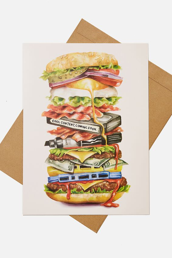 Large Fashion Card, HAMBURGER STACK