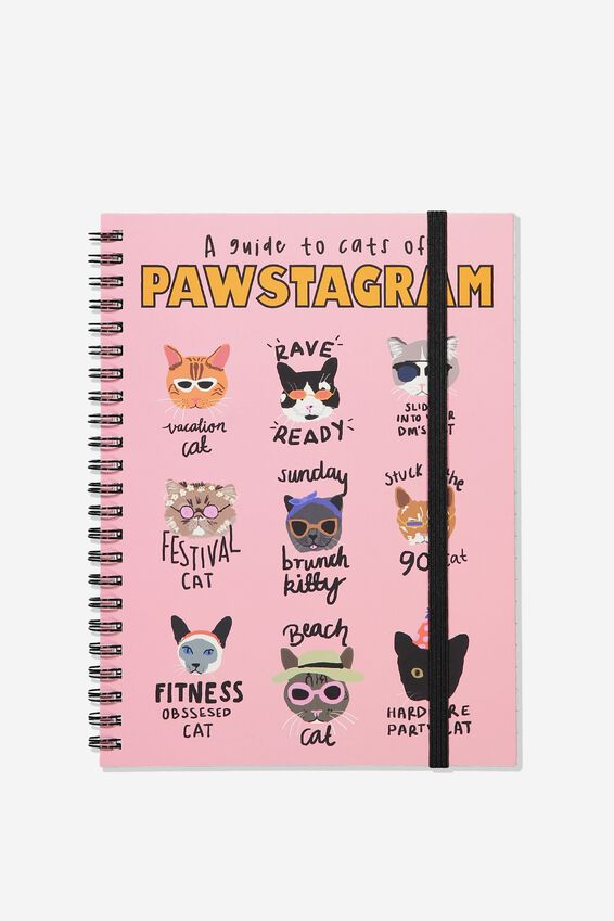 Small Spinout Notebook - V, PAWSTAGRAM