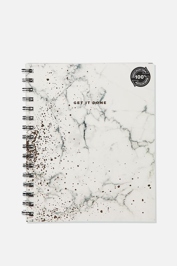 A5 Campus Notebook Recycled, WHITE MARBLE SPRAY
