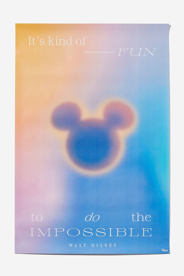 Hang Out Poster, LCN DIS MICKEY DO THE IMPOSSIBLE