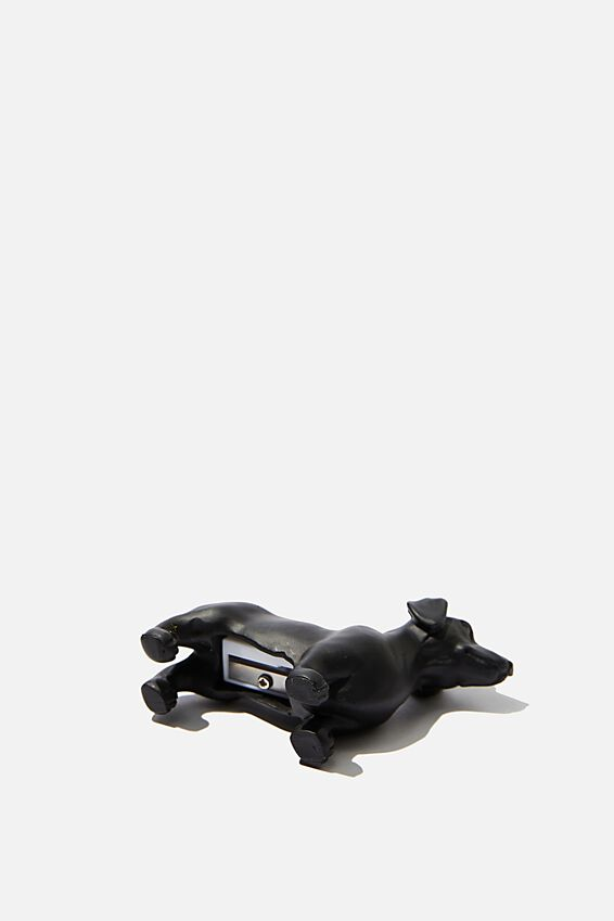 Resin Pencil Sharpener, MATTE BLACK DACHSHUND