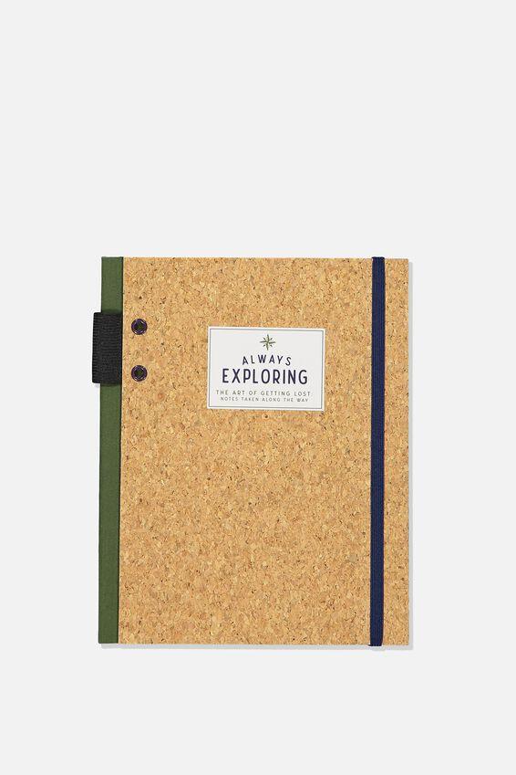 Explorer Notebook, ALWAYS EXPLORING CORK