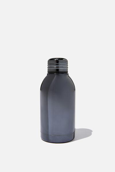 Mini Metal Drink Bottle, GREY ELECTROPLATE