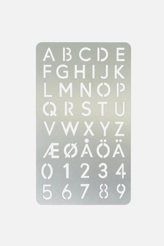 Metal Stencil, LETTERS & NUMBERS