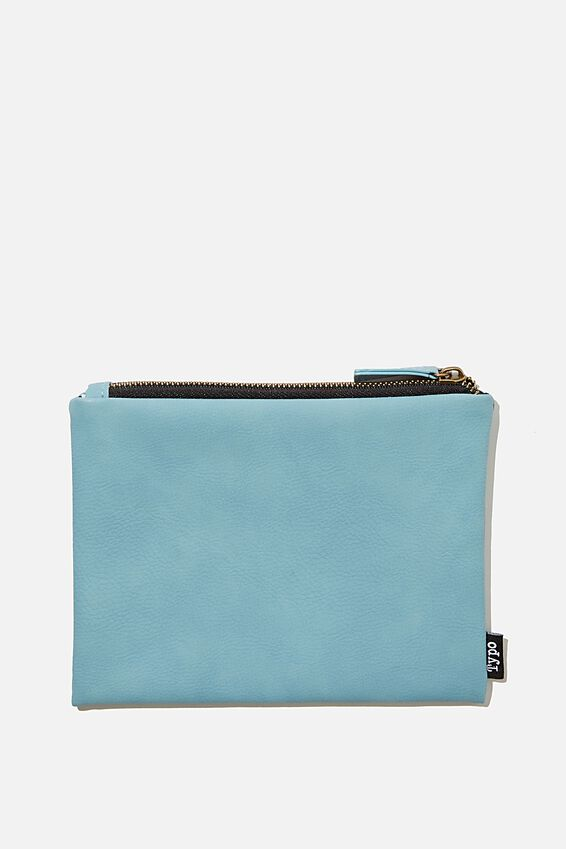 Pu Campus Pencil Case, DENIM BLUE