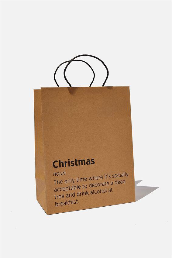 Get Stuffed Gift Bag - Medium, CHRISTMAS NOUN