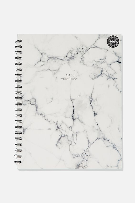 A4 Campus Notebook Recycled, WHITE MARBLE