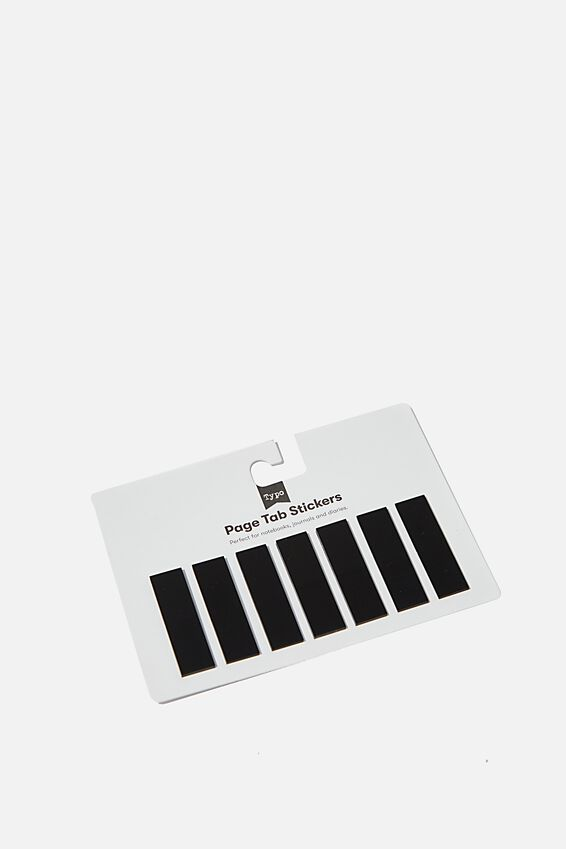 Page Tab Stickers, BLACK