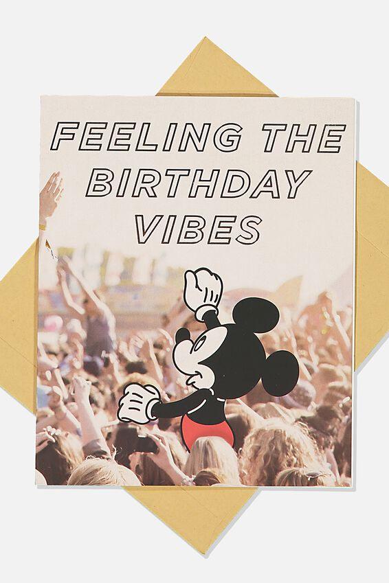 Disney Funny Birthday Card, LCN DIS MICKEY BIRTHDAY VIBES