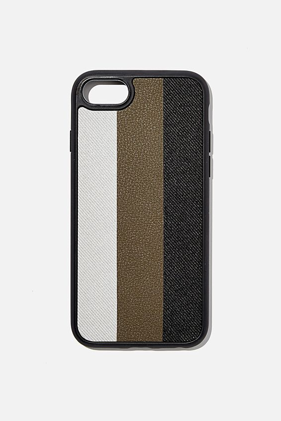 Snap On Protective Phone Case 6, 7, 8, EARTH STRIPES
