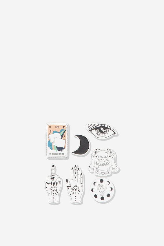 Plush Sticker Pack, MOON CHILD