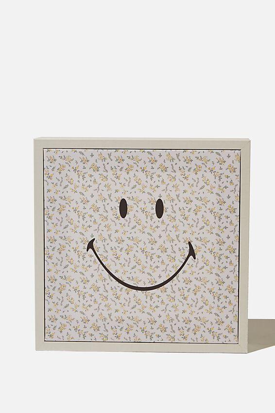 24 X 24 Smiley Mini Canvas Art, LCN SMI SMILEY FLORAL