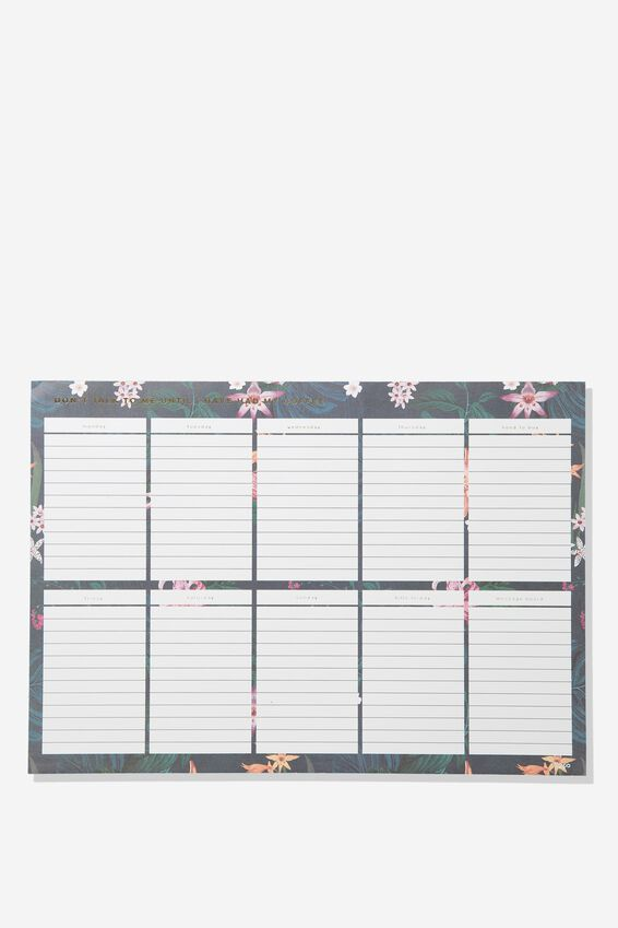 A3 Plan Ahead Planner, JUNGLE FLORAL