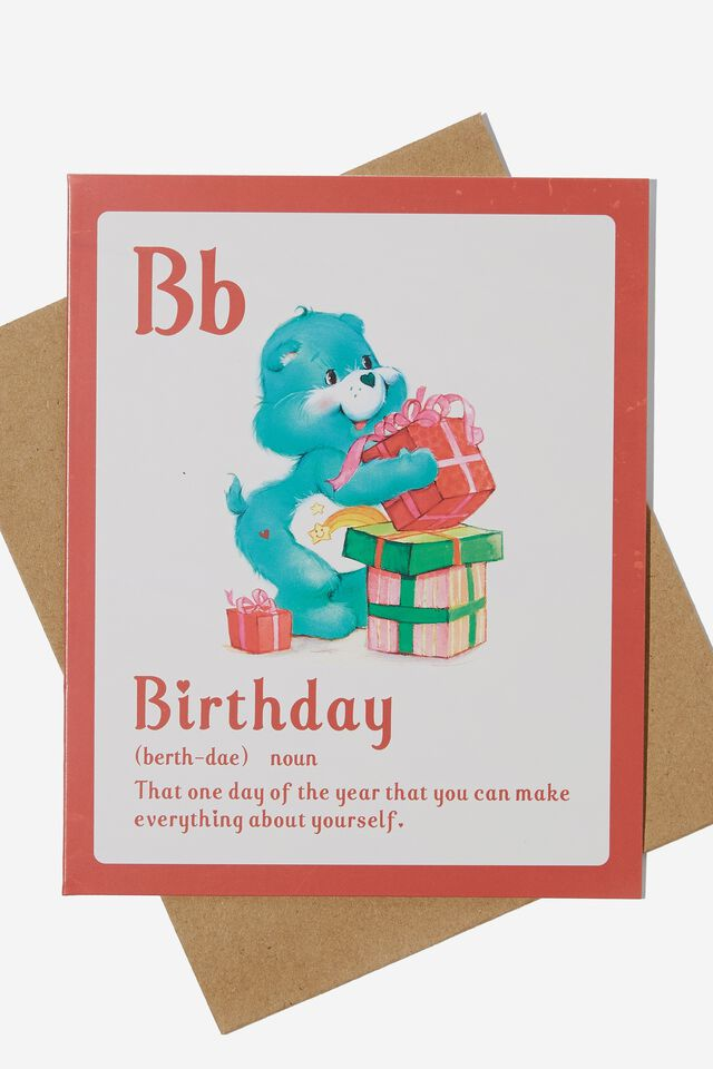 Care Bears Nice Birthday Card, LCN CLC CARE BEARS BIRTHDAY NOUN
