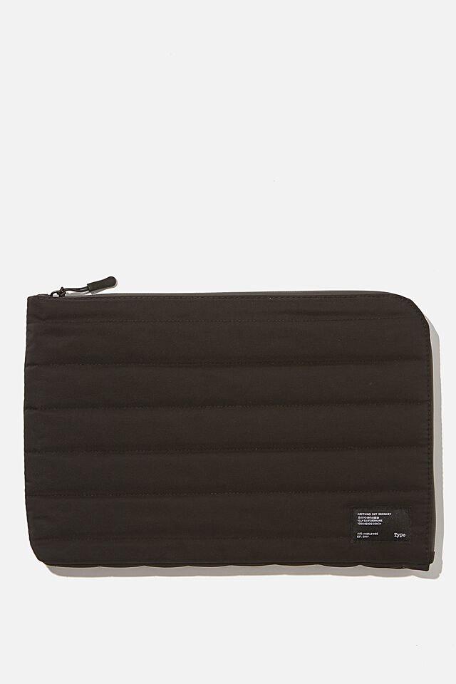 Utility Recycled 11 Inch Laptop Case, BLACK & GREY