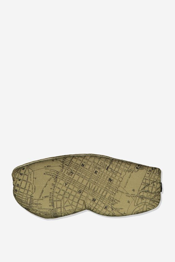 Total Block Out Eyemask, KHAKI MAP