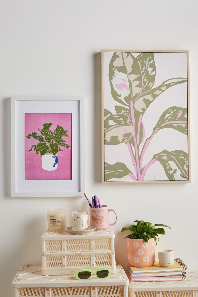 40 X 60 Canvas Art, PINK PLANT
