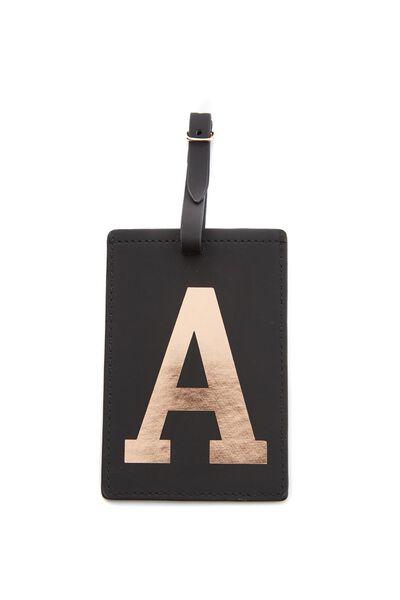 Alphabet Luggage Tag, A