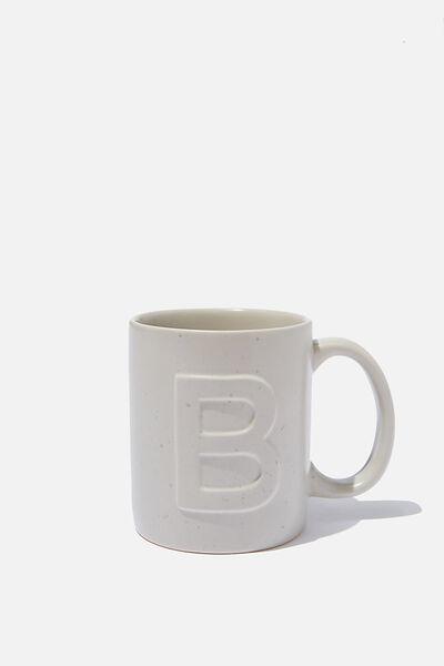 Alphabet Anytime Mug, SPECKLED B