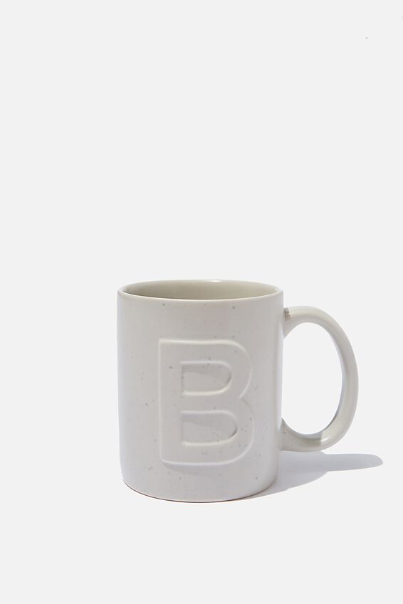 Alphabet Anytime Mug, SPECKLED B