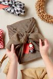 Fabric Wrapping Pack Medium 2Pk, NATURAL BROWN