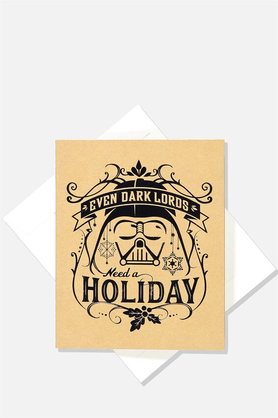 2018 Star Wars Christmas Card, LCN LU DARK LORD HOLIDAY