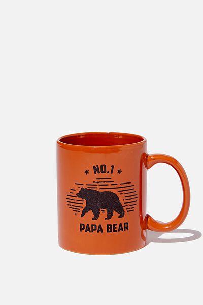 Anytime Mug, PAPA BEAR RUSSET