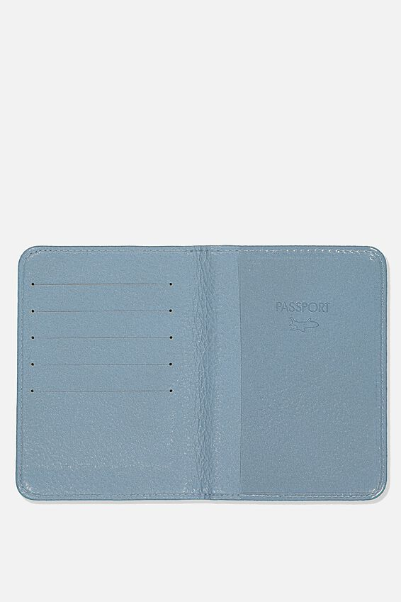Rfid Passport Holder, LIGHT GREY NEUTRAL STRIPES