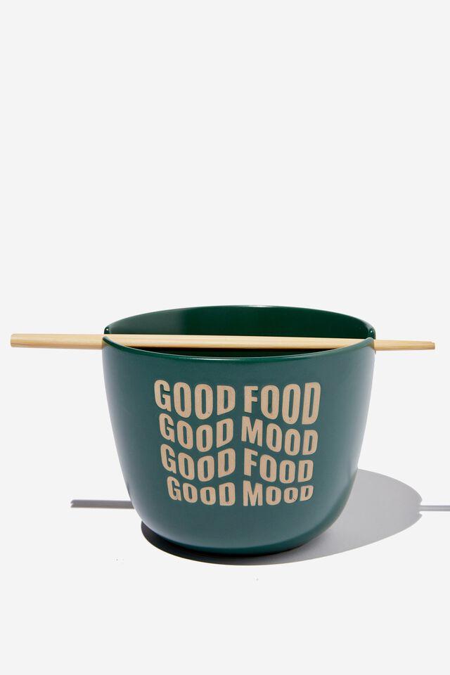 Feed Me Bowl, GOOD FOOD GOOD MOOD DEEP GREEN