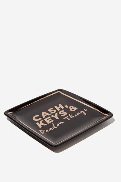 Novelty Trinket Tray, CASH & KEYS