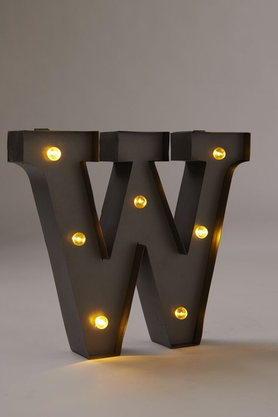 Midi Marquee Letter Lights 6.3inch, SILVER W