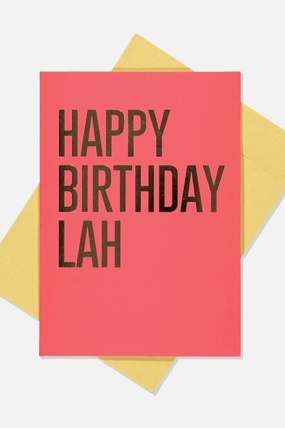 Nice Birthday Card, RED GOLD HB LAH