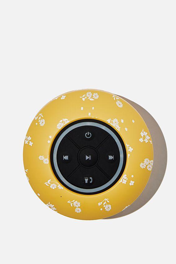 Wireless Led Shower Speaker, DOTTIE FLORAL MUSTARD 2.0