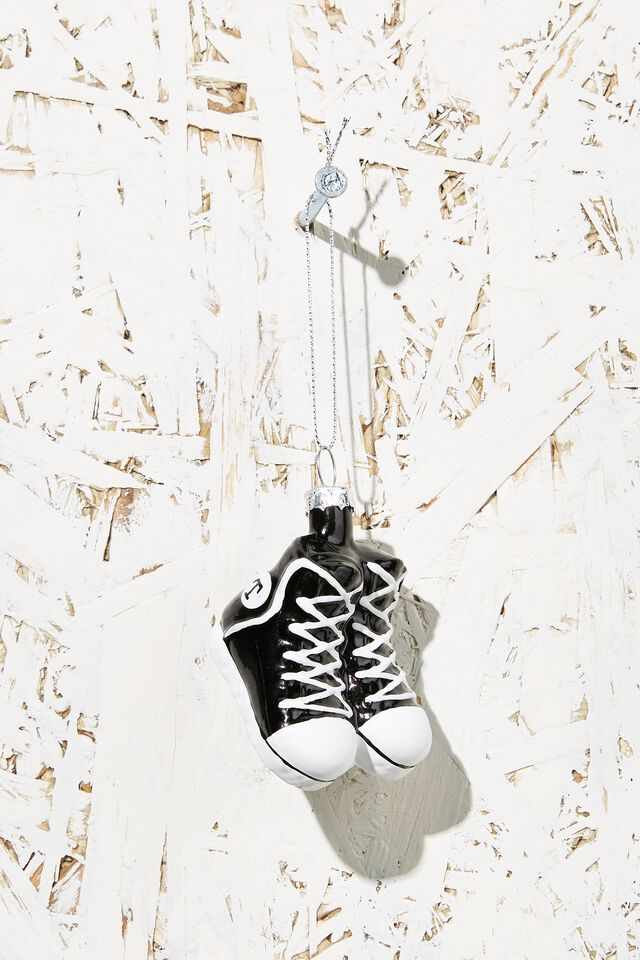 Small Glass Christmas Ornament, SNEAKERS
