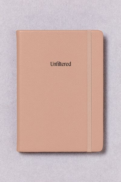 Personalised A5 Buffalo Journal, NUDE PINK