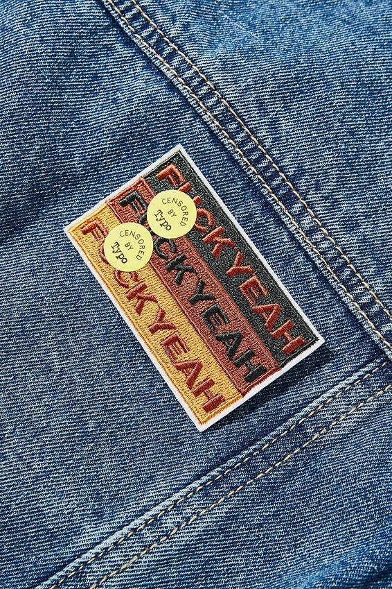 Fabric Badge, F### REPEAT!!