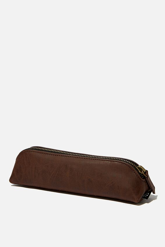 Buffalo Barrel Pencil Case, RICH TAN