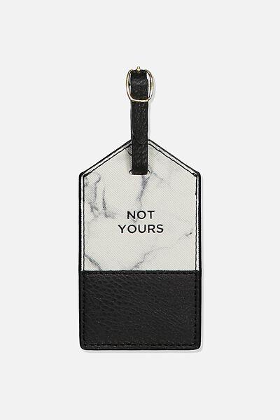 Luggage Tag, WHITE MARBLE SPLICE