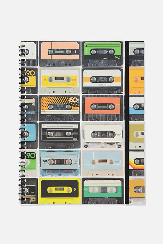A4 Spinout Notebook Recycled, TBAR CASSETTE TAPES