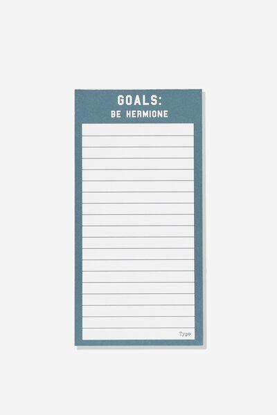 Make A List Note Pad, LCN HP HERMIONE