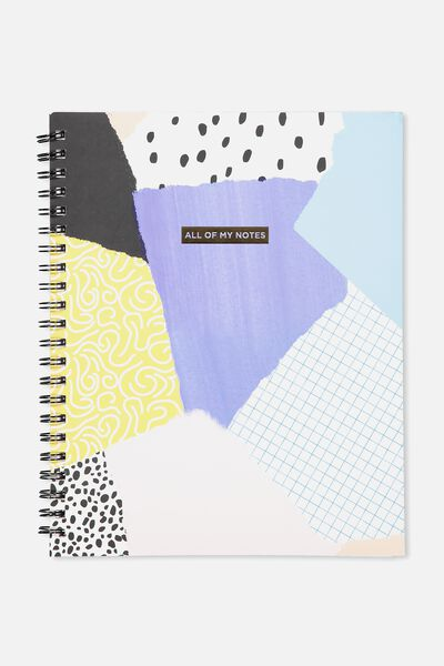 A4 Campus Notebook, ALL OF MY NOTES PATCHES
